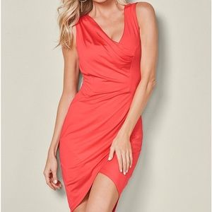 Dresses & Skirts - Asymmetrical sexy red/coral dress